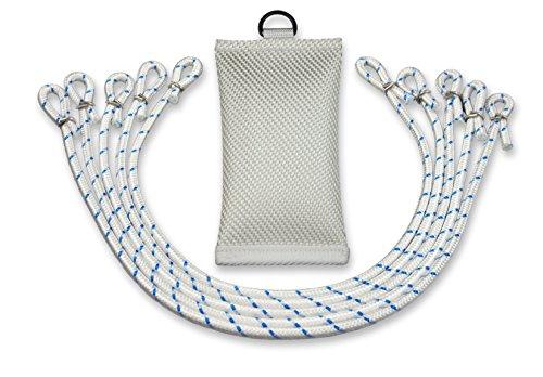 FBS Fahnengewicht Beschwerungssäckchen 700 Gramm mit 5 Fahnenschlingen für Fahnen und Fahnenmast mit Durchmesser bis 100 mm (Set)