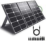 CHAFON Portable 60W Solar Panel Charger for Suaoki Portable Generator / 8mm Goal Zero Yeti Power Station/Jackery Explorer 240 Solar Battery Backup on Camping Van RV Travel,USB A/USB C Ports