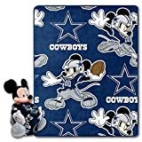 Northwest NFL Dallas Cowboys & Disney's Mickey Mouse Character Hugger Pillow & Silk Touch Throw Set, 40' x 50'