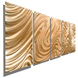 Statements2000 Large Abstract Copper Metal Wall Art Sculpture - Multi Panel Modern Contemporary Wall Décor by Jon Allen - Copper Hypnotic Sands - 64'