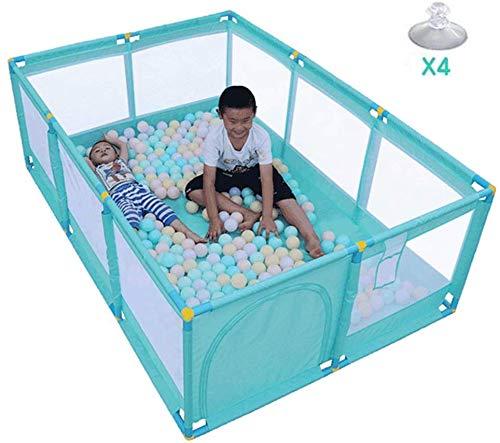 Laufgitter Spielzaun Kinderspielplatz Ocean Ball Krabbeldecke Ball Pool Terrasse Kunststoff Atmungsaktiv Sicherheit, 2 Größen (Farbe: A, Größe: 190X128X66CM)