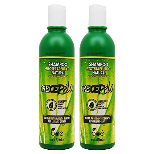 BOE Crece Pelo Shampoo Fitoterapeutico Natural (Natural Phitoterapeutic Shampoo) 12.5 oz (Pack of 2)