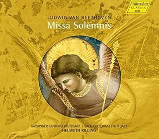 Beethoven:Missa Solemnis [Bach-Collegium Stuttgart, Helmuth Rilling ] [HANSSLER: 98.053] by Bach-Collegium Stuttgart