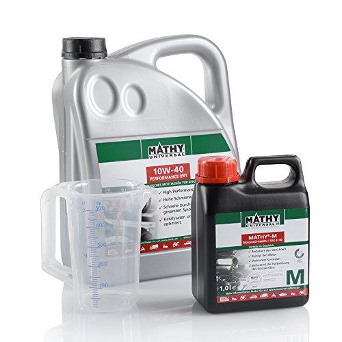 MATHY motorolie en reiniger voor motor benzine en diesel olieverversingsset SAE 10W-40 Performance VX1