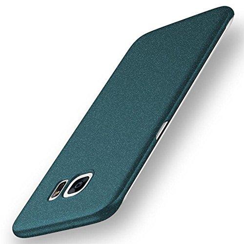 anccer Samsung Galaxy S7 Edge Hülle, [Serie Matte] Elastische Schockabsorption und Ultra Thin Design für Samsung Galaxy S7 Edge (Nicht für Galaxy S7) (Kies Grün)