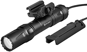 OLIGHT Odin 2000 Lumens Rechargeable Picatinny Rail Mounted Tactical Flashlight with Remote Pressure Switch, 300 Meters Be...