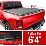MaxMate Soft Roll Up Truck Bed Tonneau Cover Compatible with 2002-2018 Dodge Ram 1500 | 2019-2021 Classic Only | Fleetside 6'4' Bed | Without RamBox