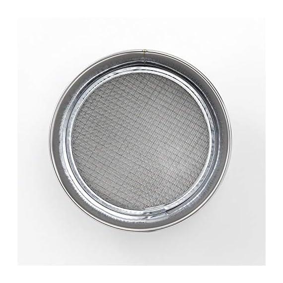 Hanafubuki wazakura 3pcs soil sieve set 8-1/4inch(210mm), made in japan, 3 sieve mesh filter sizes, japanese bonsai… 3 size: φ8. 26 x h 2. 55 in (φ210mm x 65mm)   sieve mesh sizes: 0. 04 in (1mm) 0. 11 in (3mm) 0. 19 in (5mm)   weight: 8. 6oz (245g)   material: frame - stainless steel, sieve mesh - iron made in japan