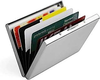 Doutop Credit Card Holder Card Wallet RFID Blocking Brushed Stainless Steel Bank ID Card Holder Case Box Pocket Purse for ...