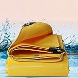 ZYDSD-Schutzplane PVC gelbe Plane für Gartenteich - 500g / ㎡ - 0.5MM Baustelle, Garten, Garage (Color : Yellow, Size : 4x9m)
