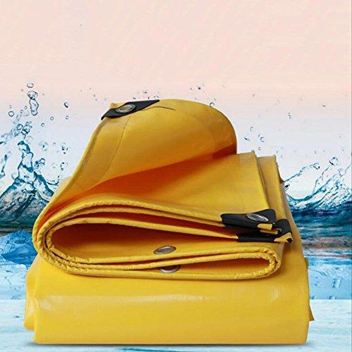Yxsd waterdicht zonnecrème-zeil, groot truck-, regenproof cloth-canvas, pvc, waterdicht zeil, waterdichte doek, baldakijndoek, buitenverdikking 1.5x2m geel