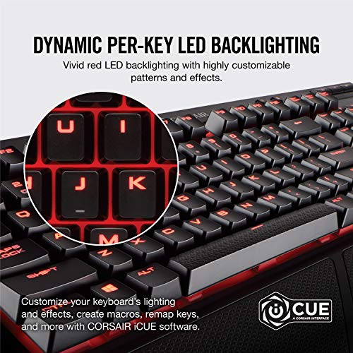 Product Image 1: Corsair K68 Mechanical Gaming Keyboard, Backlit Red LED, Dust and Spill Resistant – Linear & Quiet – Cherry MX Red