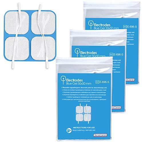 TensCare E-626SS - Pack 4 electrodos gel hipoalergénico