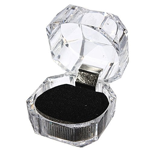 Dealglad 10pcs Acrylic Clear Ring Earrings Jewelry Storage Box Display Organizer Gift Case (Black)