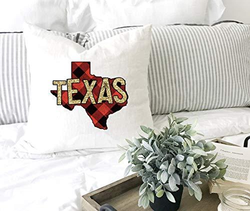N/ A Texas Wurfkissen Texas Kissen Büffel Plaid Texas Texas Geschenk für sie Etsy Pretty Me Pink Wurfkissen
