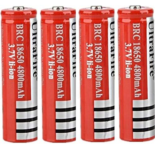 18650 Batería recargable de iones de litio de 3,7 V 4800 mAh Prácticas baterías de litio Respetuoso con el medio ambiente para linterna LED, dispositivos electrónicos,...