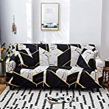 MKQB Funda de sofá elástica geométrica, Funda de protección de Muebles Antideslizante para Sala de Estar Moderna, Funda de sofá de Esquina en Forma de L NO.14 3seat-L- (190-230cm