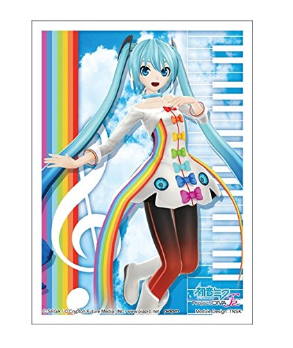 Hatsune Miku Rainbow Line Vocaloid Project Diva-F 2nd Anime Girl Character Card Game Sleeves High Grade HG Collection Vol.672 Seven Color Rain Illust. Tansuke TNSK image