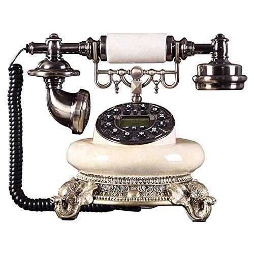Teléfono Estilo antiguo con cable Línea fija Teléfono Vintage Antiguo Teléfono Decorativo, Teléfono Teléfono Hogar Moda Oficina Creativa Solucionado Teléfono Antiguo Europeo, Identificación de Llamado