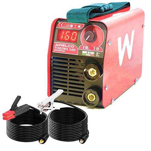 Tecnoweld Schweißgerät, 160 A, tragbar, Inverter, Edelstahl, Gusseisen, Elektroden, 1,6 bis 3,2 mm, Koffer