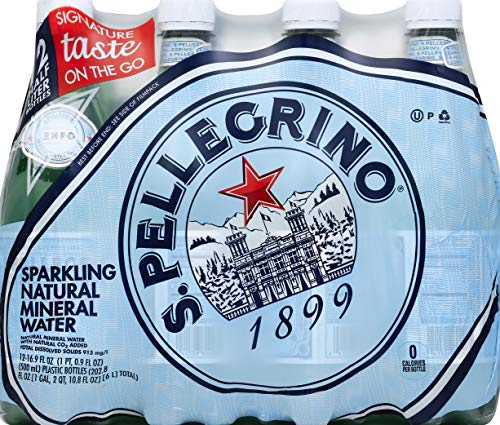 S.Pellegrino Sparkling Natural Mineral Water, 16.9 fl oz. (12 Pack)