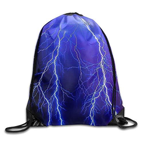 JHUIK Vasaros žaibo bumo spausdinimo virvele kuprinė kuprinė pečių krepšiai gimnastikos krepšys sportinis krepšys