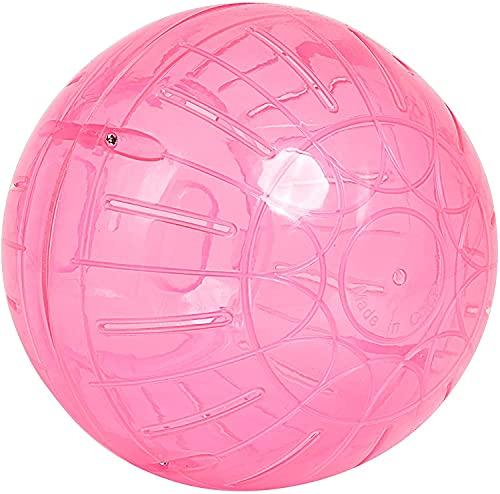 Palla per criceti, giocattolo per roditori, gioco interattivo per criceti, colore casuale (12 cm)