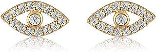 Italina Women's Earrings Stud Earrings Cubic Zirconia Evil Eyes Shaped Jewelry Earrings for Women Girls Fashion