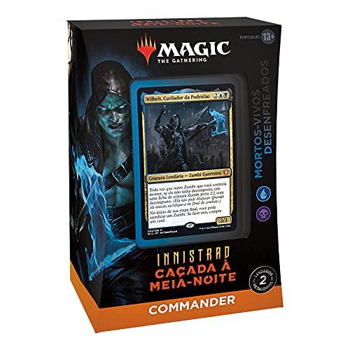 Magic: The Gathering - Deck de Commander de Innistrad: Caçada à Meia-noite – Mortos-vivos Desenfreados (azul e preto) | Português