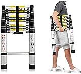 Groundlevel Aluminium Telescopic Ladders, Lightweight, Robust, Easy to Store Away, Multipurpose -Choice of 4 Handy Sizes (2 Meter)