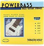 Thomastik Corde per basso elettrica Power Bass Magnecore Round Wound Hexcore set 5 corde E...