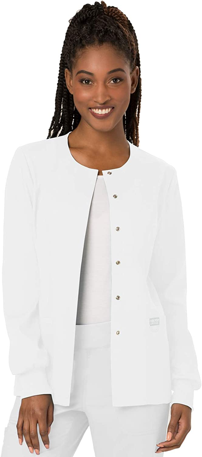 WW Revolution by Cherokee Womens Snap Front Warmup Jacket