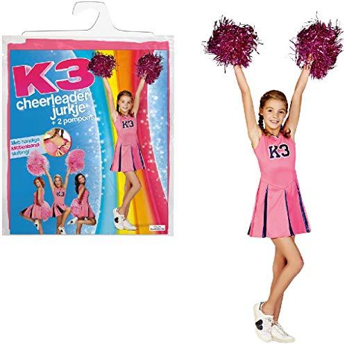 K3 Verkleedjurk - cheerleader 3-5 j.
