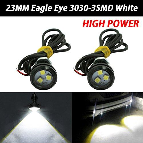 1pair automatique Halo Rings Angel Eye COB Chips phares DRL LED moto et en voiture Taille : 120mm//93LEDS Angel Eye