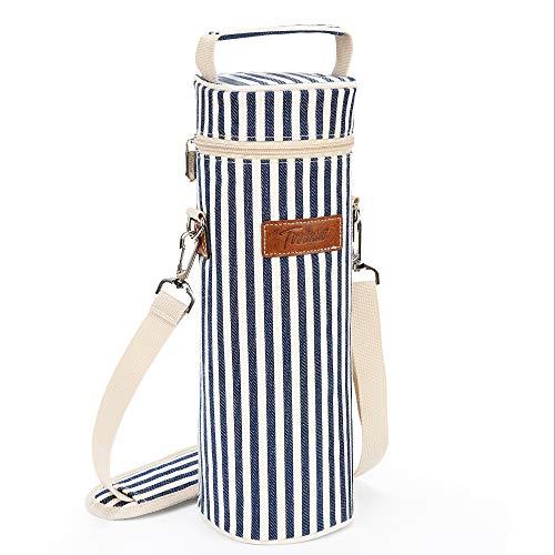 Kato Flaschentasche für 1 Flasche Kühltasche Isolierter und Gepolsterter Tragbarer Weinkoffer für Reisen, BYOB Restaurant, Weinprobe, Party, tolles Geschenk für Weinliebhaber