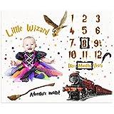 Baby Milestone Blanket for Newborn Memory Photo Taken | Little Wizard