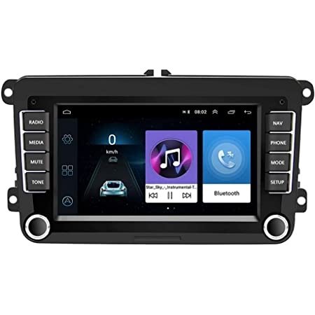 Camecho Android Autoradio Gps Navigation 17 8 Cm 7 Zoll Hd Touchscreen Bluetooth Am Fm Receiver Player Auto