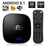 Android 8.1 2G 16GB TV Box Smart Set Top Box Equipped with Amlogic S905W Quad Core Processor 64 bits Support 3D/2.4G/H.265
