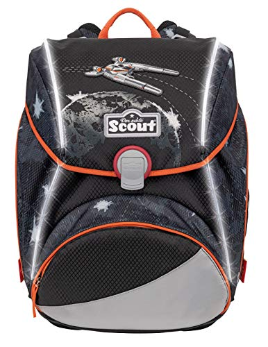 Scout Alpha Safety Light Schulranzen-Set 4tlg.