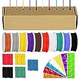 Youmile 22AWG Kit de cables de conexión Cable de silicona de calibre 22 Cable eléctrico trenzado estañado de 300 V 10 colores 9M / 30 pies Cada kit de surtido de cables para bricolaje