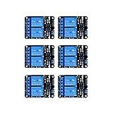 Aideepen 6 PZ 5V 2 Canali Relè DC 5V 230V Modulo Relè Shield Scheda di Controllo con Optocoupler per Raspberry Pi PIC AVR MCU DSP ARM TTL Logic con Optocoupler Trigger