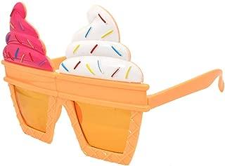 Ice Cream Shape Sunglasses Novelty Sunglasses Party Glasses Costume Fancy Dress Novelty Party Favor