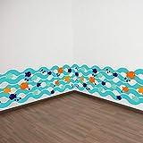 GCCQT Zócalo de pescado azulEtiqueta de la pared,Extraíble Etiqueta de la pared,Decorativo, Cocina, Sala de Estar,fondoEtiqueta de la pared,Se puede usar como unRegalo de cumpleaños