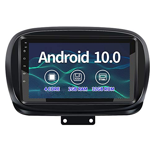 AWESAFE 9 Pollici Autoradio per Fiat 500X (2014-2020) Android 10.0 (2G+32GB) Car Radio con Cornice esterna, Car Stereo Supporto Bluetooth, comandi al volante, schermo diviso, navigazione