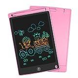 HOMESTEC Color Tablet de 8,5pulgadas de Escritura, LCD Tablero de Dibujo Gráfica Pizarra Magica de Mensaje Memo Pad Electrónico con Lápiz Regalos para Niños,Clase,Oficina,Casa,Cocina (Rosado)