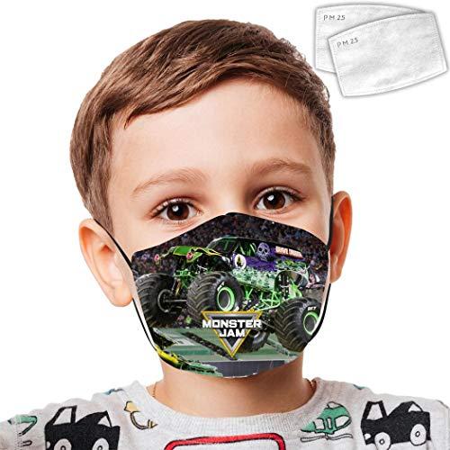Kids Reusable Mouth Protection Trucks_Grave Washable Face Masks Child Face Masks Custom Cover Anti Dust Mask