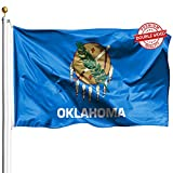 DFLIVE Double Sided Oklahoma State Flag 3x5ft Heavy Duty Polyester 3 Ply OK Sooner State Flags Indoor and Outdoor Use