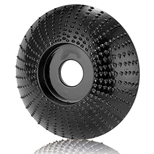 VOSSOT Schleifscheiben(Ø 125 mm x 22 mm), Hohe Qualität flex winkelschleifer, Holzschleifscheibe für Winkelschleifer Frässcheibe, Polieren und Schnitzen für 115 mm oder...