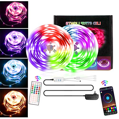 LED Strip 10M 180 LEDs, iToncs 5050 RGBW Led Streifen, 16 Mio. Farbwechsel LED Band via APP, Musik, Timerfunktion LED Stripes für Haus TV Party Schlafzimmer 5Mx2, mit 44-Tasten Fernbedienung