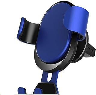 Car Phone Holder Air Outlet Phone Holder Mobile Gravity Bracket Car Accessories (color : Blue)